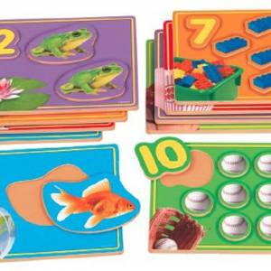 LEARN TO COUNT PICTURE PUZZLES SET OF 10.