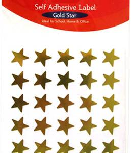 STICKERS – GOLD STARS 180
