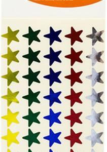 STICKERS 5 COLOUR STARS 240