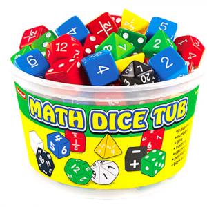 MATHS DICE TUB SET OF 90