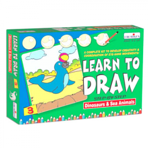 LEARN TO DRAW DINOSAURS AND SEA ANIMALS
