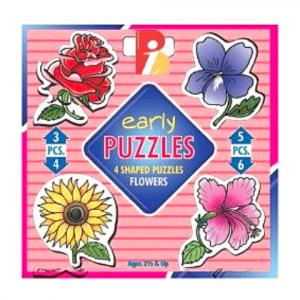 SET OF 4 SHAPE PUZZLES – FLOWERS