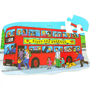 SHAPED FLOOR PUZZLE – BUS