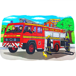 SHAPED FLOOR PUZZLE – FIRE ENGINE