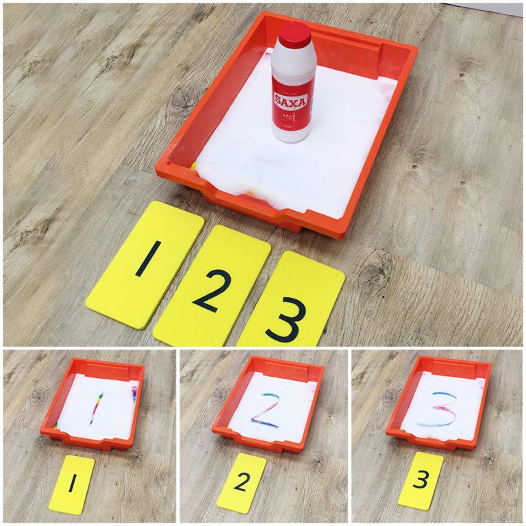 Number Salt/Sand Trays